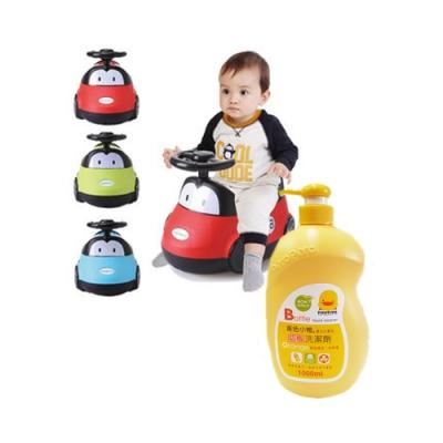 baby hood小汽車座便器(紅/藍/綠)+黃色小鴨奶瓶洗潔劑罐裝1000ML(香甜橘油)*1