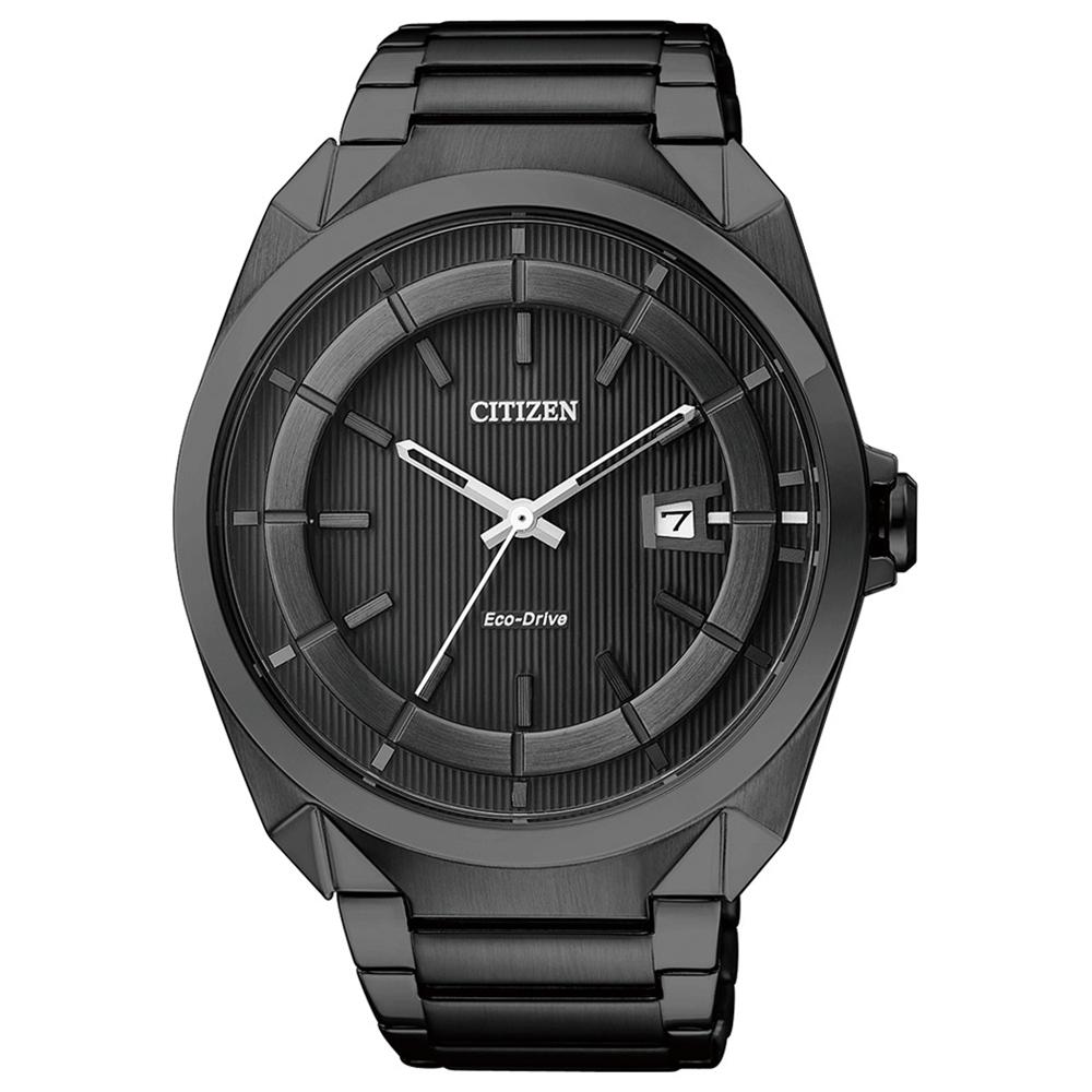 CITIZEN星辰光動能時尚腕錶-IP黑/42mm(AW1015-53E)