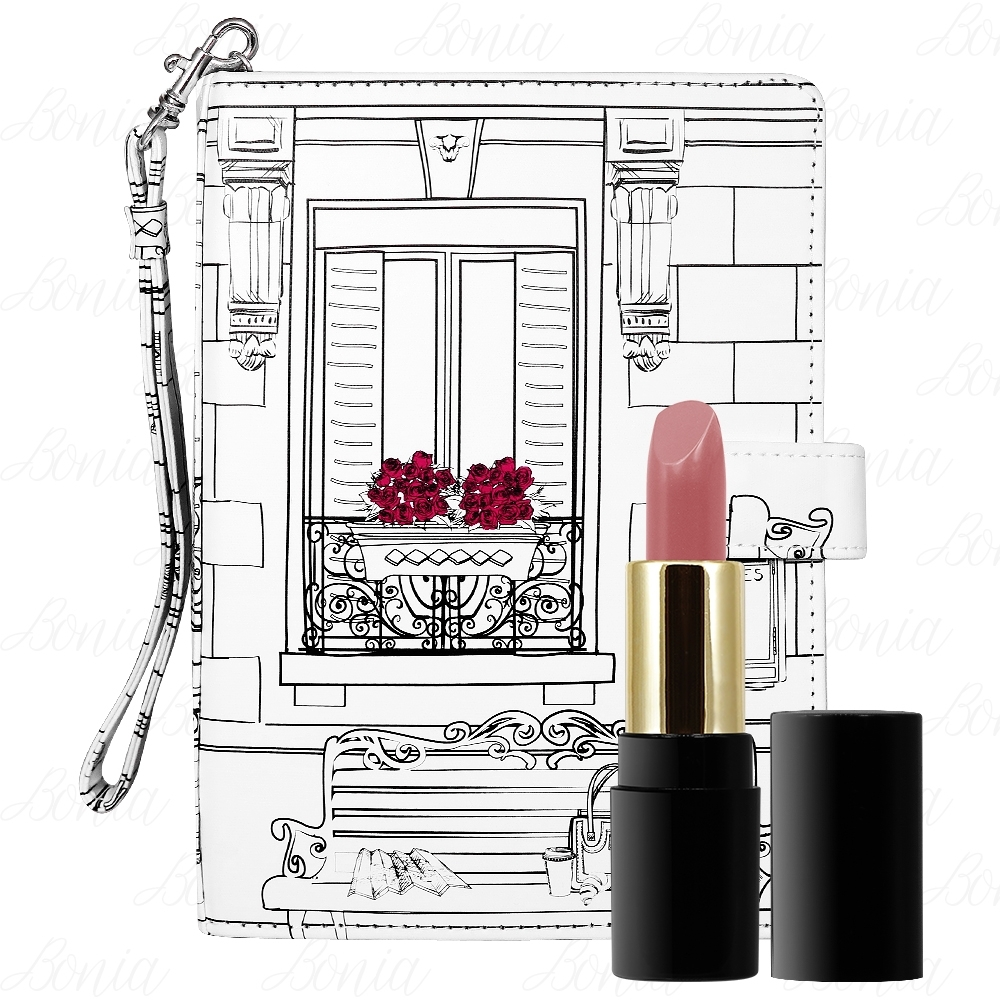 LANCOME 蘭蔻 絕對完美唇膏精巧版(#264)(1.6g)+時尚法式手拿包