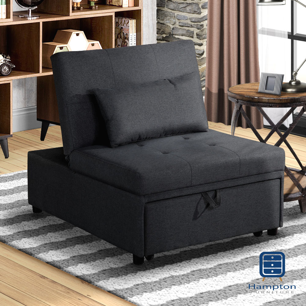 漢妮Hampton莫里斯布面單人沙發床-四色可選