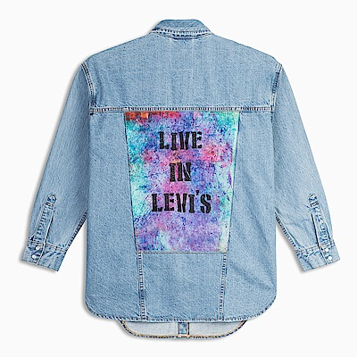 Levis 女款 牛仔襯衫 Oversize 寬鬆版型 街頭塗鴉風