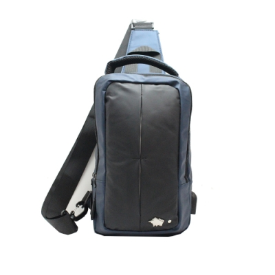 DRAKA 達卡 - 街頭痞雅系列-後背/側背三用方形單肩包-藍