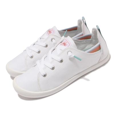 Skechers 休閒鞋 Beach Bingo 套入式 帆布 女鞋 後跟可踩 緩衝 可機洗 BOBS 白 113998-WHT