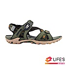 LOTTO 義大利 男 排水磁扣涼鞋 (軍綠)