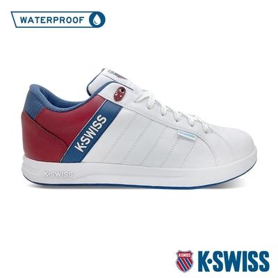 K-SWISS Lundahl WP防水系列 時尚運動鞋-女-白/藍/紅