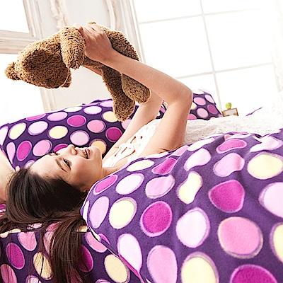 戀家小舖 / 雙人加大床包兩用毯組  神秘普普  頂級搖粒絨  台灣製