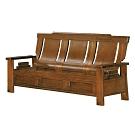 綠活居 魯普典雅風實木抽屜三人座沙發椅(三抽屜設置)-188x88x104cm免組