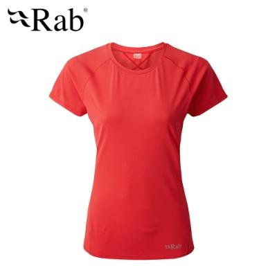 【英國 RAB】Force SS Tee 透氣短袖排汗衣 女款 天竺葵 #QBU56