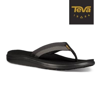 TEVA 男 Voya Flip 寬版織帶夾腳拖鞋-黑灰