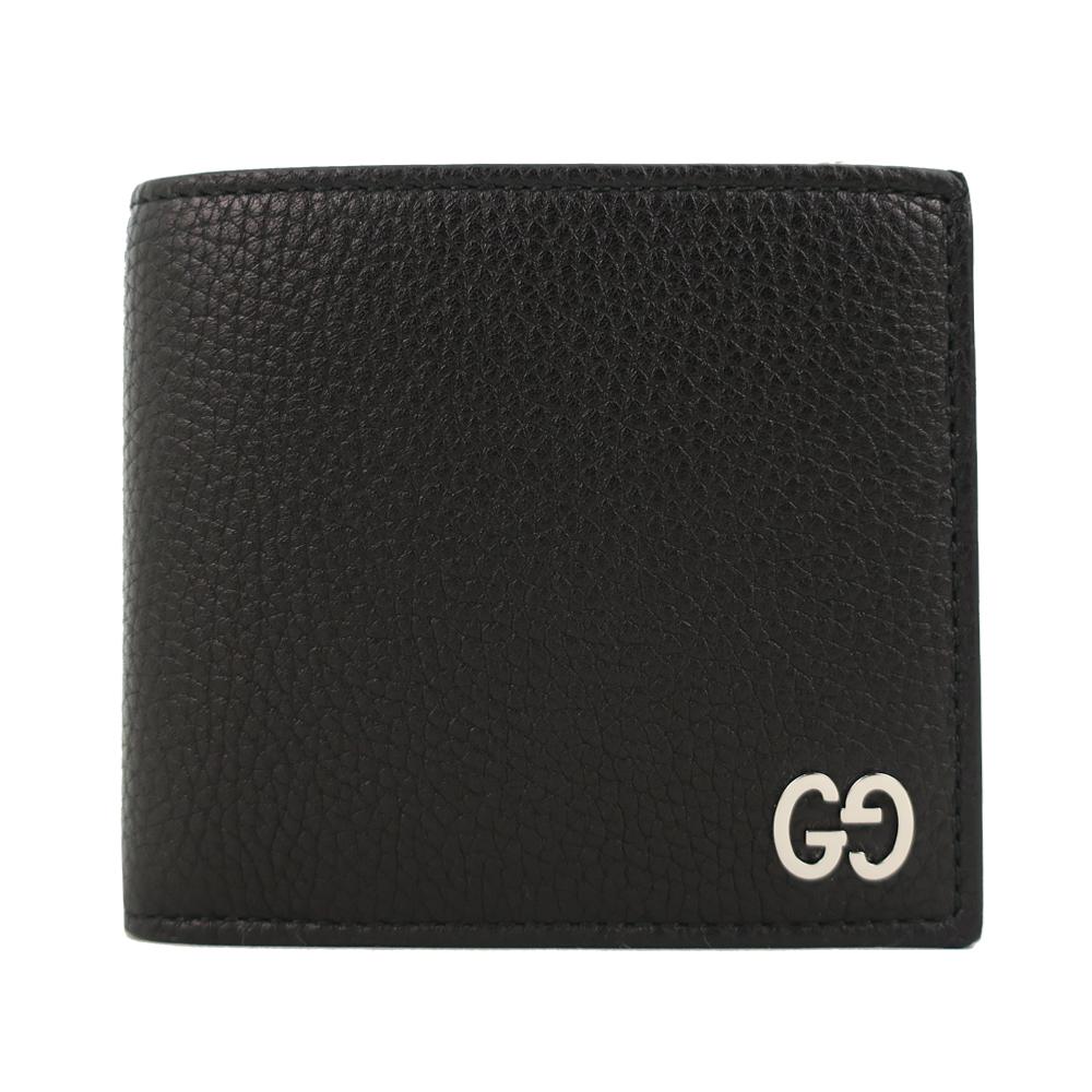 Gucci Signature 簡單牛皮八卡男短夾(黑)