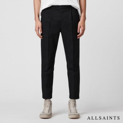 ALLSAINTS TALLIS 經典素面復古反折九分長褲-黑