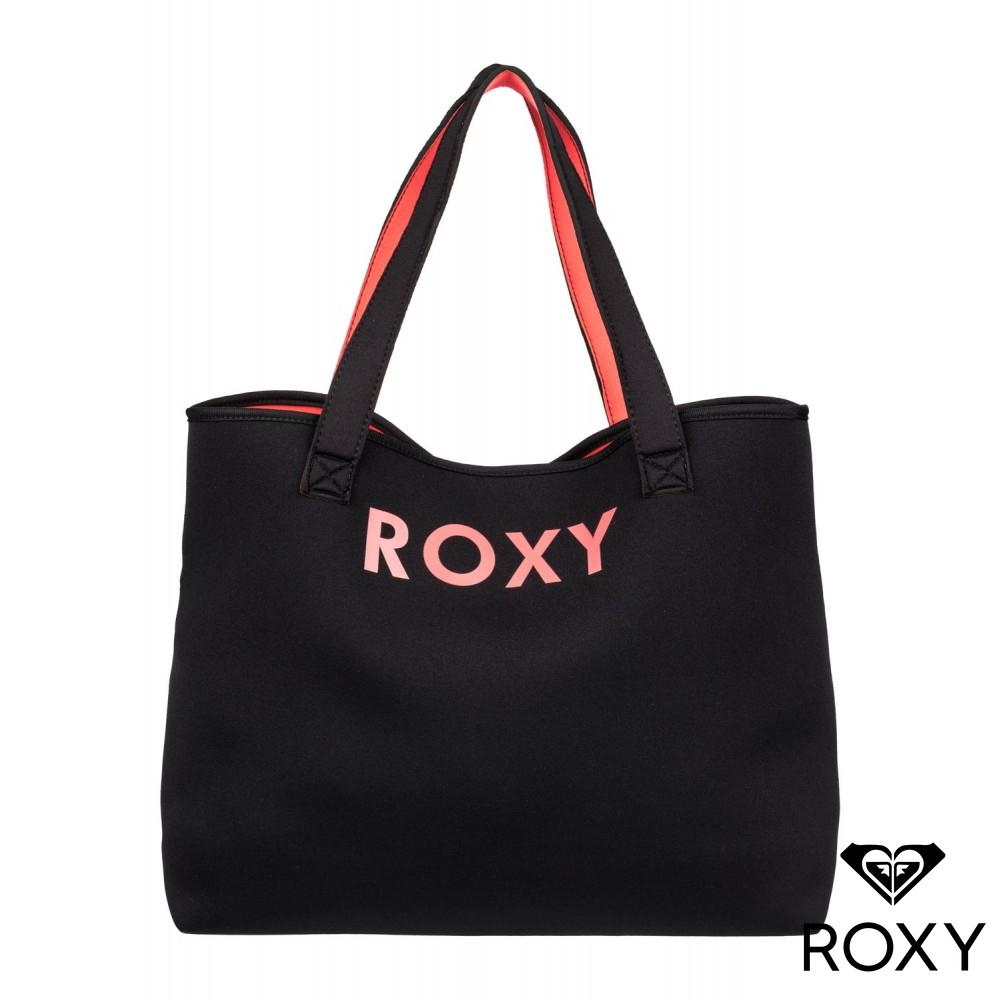 【ROXY】ALL THINGS 雙面肩背包 黑