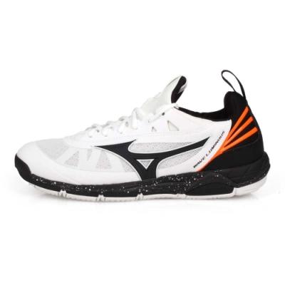 MIZUNO 男 排球鞋 WAVE LUMINOUS 白黑橘
