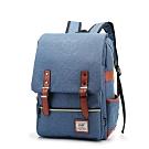 A.J.亞介 韓版學院風 牛津布中型後背包(藍色)G8050