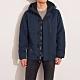 海鷗 Hollister 年度熱銷經典標誌防風防潑水風衣外套-深藍色 product thumbnail 1