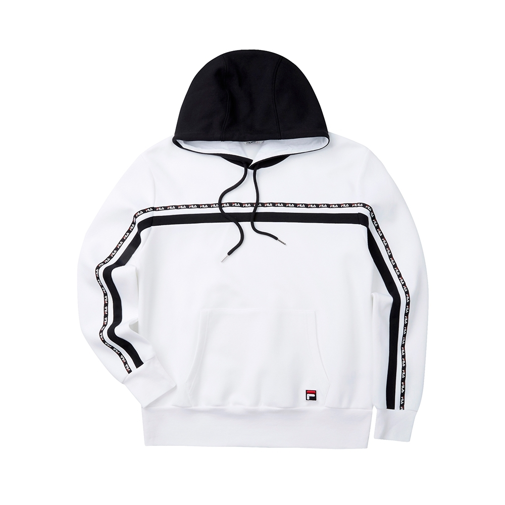 FILA #LINEA ITALIA 長袖連帽T恤-白 1TET-5408-WT