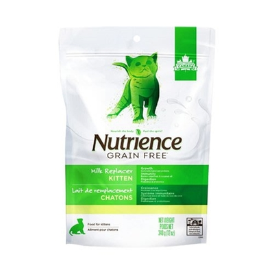 加拿大Nutrience紐崔斯GRAIN FREE-幼貓初乳奶粉 340g(12oz) 購買第二件贈送寵鮮食零食1包