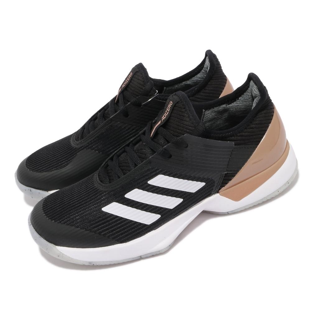 adidas 網球鞋 Adizero Ubersonic 3 女鞋 愛迪達 避震 包覆 支撐 運動 球鞋 黑 白 FU8153