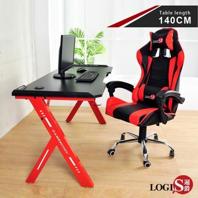 LOGIS邏爵  火焰特工碳纖電競桌 工作桌 140*61CM【RR140】