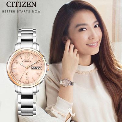 CITIZEN  xC自信魅力光動能腕錶(EW2424-50W)33mm
