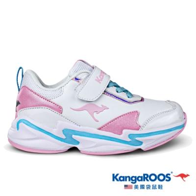KangaROOS 童 NEON 越野老爹鞋(白/粉-KK01259)