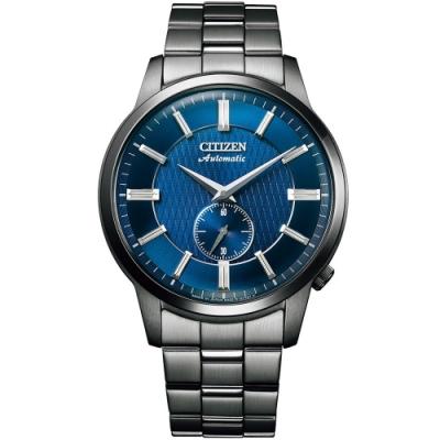 CITIZEN星辰 Mechanical沉穩士機械紳士錶-黑/藍41mm(NK5009-69N)