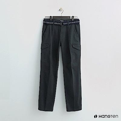 Hang Ten - 男裝 - 腰帶造型口袋休閒褲 - 灰