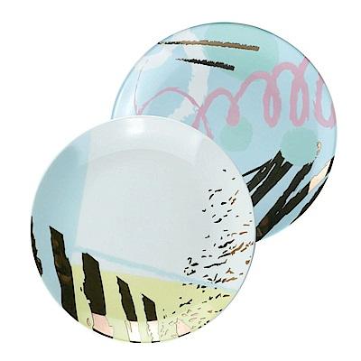 Caldo卡朵生活 Lady Chic撞色描金8吋陶瓷點心盤22.5cm