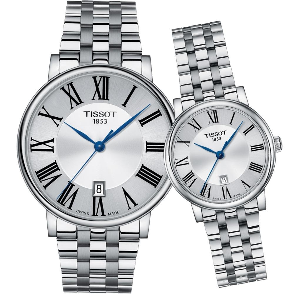 TISSOT CARSON 無限愛戀經典對錶-40x30mm