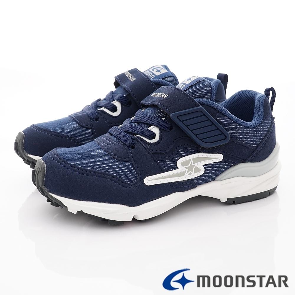 日本月星頂級童鞋 四大機能運動鞋款 NI715深藍(中大童段)