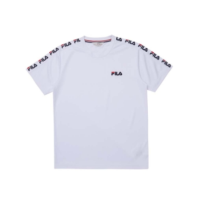 FILA 男短袖圓領T恤-白色 1TEU-1443-WT