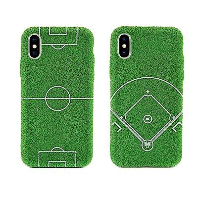 Shibaful iPhone X 5.8吋 運動 草皮硬殼