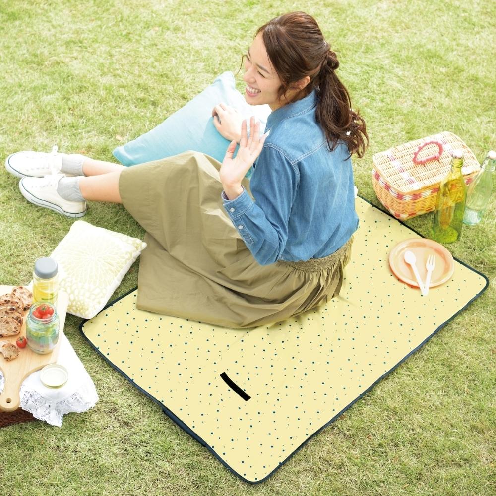 星星圓點圖案鋁箔防潮野餐墊