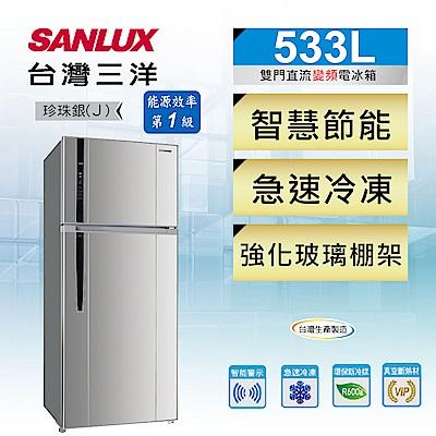 [無卡分期-12期] SANLUX台灣三洋 533L 1級變頻2門電冰箱 SR-C533BV1