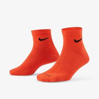 Nike EVRY PLUS LTWT ANKLE 3PR(一組3雙) 短襪-橘藍黃-SX6893910