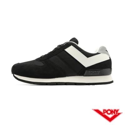 【PONY】SOLA系列 百搭慢跑鞋 休閒鞋 情侶鞋 女鞋-黑