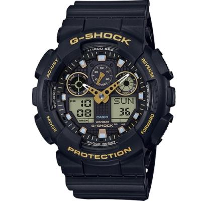 CASIO G-SHOCK 粗獷重機時尚運動錶(GA-100GBX-1A9)