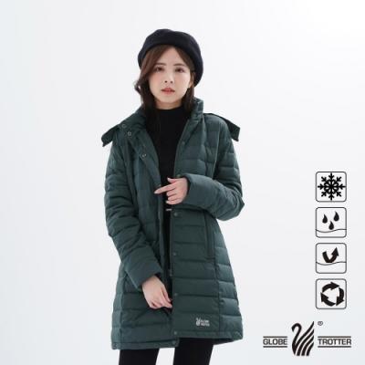 【遊遍天下】女款長版Globetex防水90%羽絨機能外套GJ22013灰色