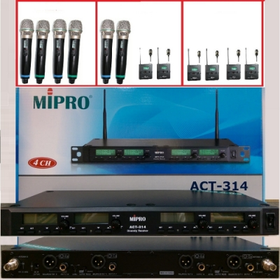 MIPRO ACT-314最新4頻無線數位麥克風