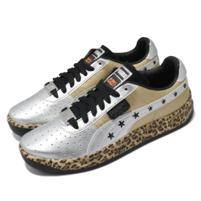 Puma 休閒鞋 GV Special Leopard 男鞋 豹紋 金屬 科技感 穿搭推薦 皮革 金 銀 37275201