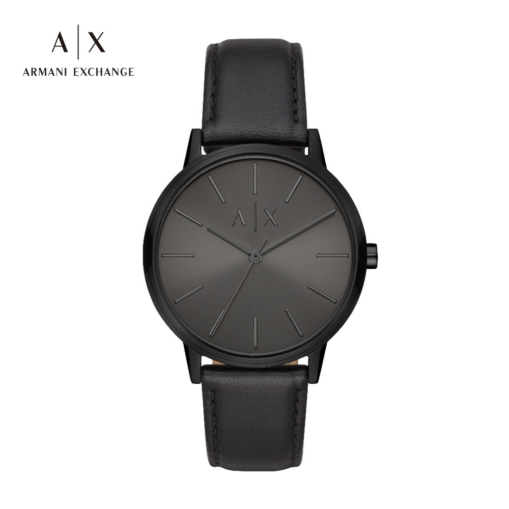 A|X ARMANI EXCHANGE CAYDE 天命真子全黑造型真皮男錶 42mm(AX2705) product image 1
