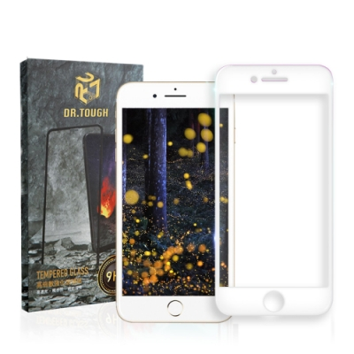 DR.TOUGH硬博士 iPhone 8 Plus /7 Plus 3D曲面滿版保護貼-白