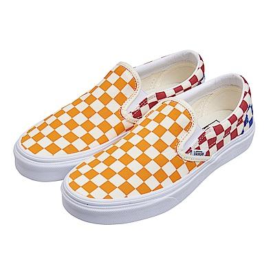 (男)VANS Classic Slip-On 撞色棋盤格休閒懶人鞋