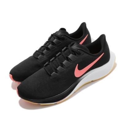 Nike 慢跑鞋 Zoom Pegasus 37 男鞋 氣墊 舒適 避震 路跑 健身 球鞋 黑 橘 BQ9646010