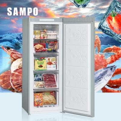 [館長推薦] SAMPO聲寶 170L 直立式無霜冷凍櫃 SRF-171F 髮絲銀