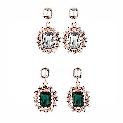 梨花HaNA 韓國她的私生活珠寶方鑽華麗派對耳環