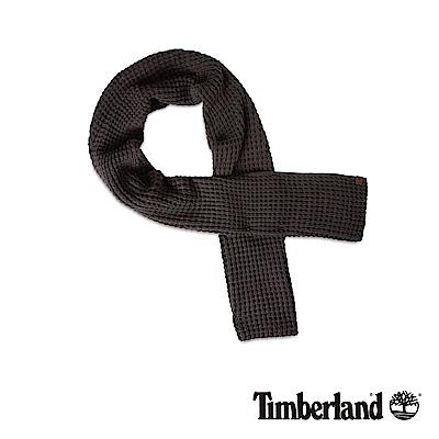 Timberland 男款深灰色網格厚圍巾|A1EFG