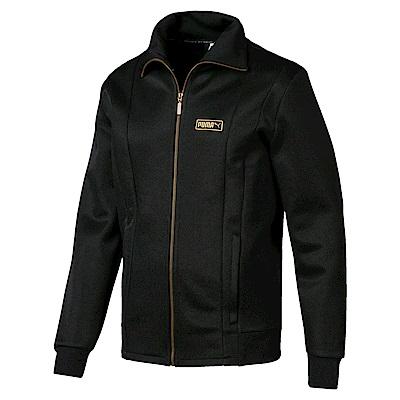 PUMA-男性流行系列Trophie T7立領外套-黑色-歐規
