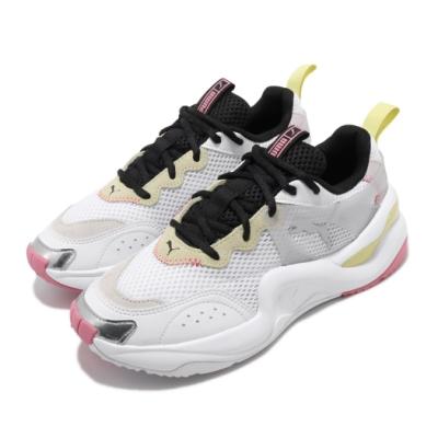 Puma 休閒鞋 Rise Contrast 運動 女鞋 輕量 透氣 舒適 避震 球鞋 穿搭 白 黃 37232303