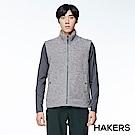 【HAKERS】男款 保暖刷毛背心(海鷗灰)